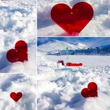 Plexi cuore rosso