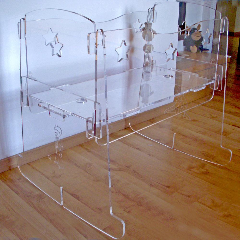 culla design plexiglass neonato da accostare
